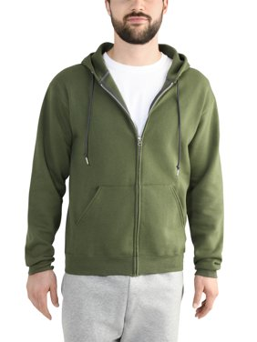 Fruit of the Loom Men's and Big Men's Eversoft Fleece Full Zip Hoodie Jacket, up to Size 3XL