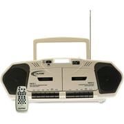 Califone 6W Dual Cassette/CD Via Ergoguys - 1 x Disc - 6 W Stereo Speaker LCD - 20 Programable Tracks - CD-DA - 108 MHz, 1710 kHz