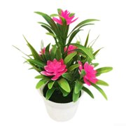 Realistic Artificial Flowers Plant Pot Outdoor Home Office Decoration Gift