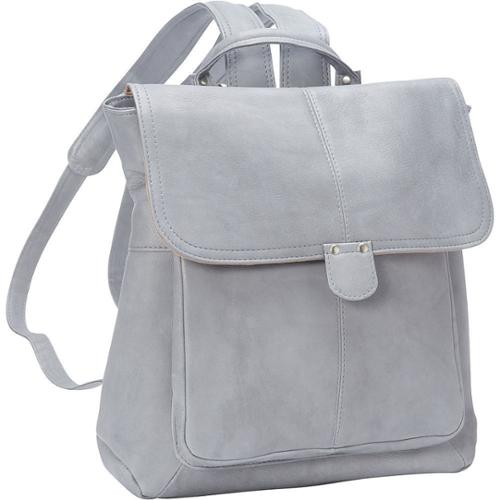 LeDonne Leather Saddle Backpack Grey