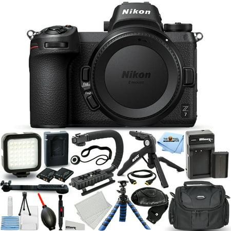 Nikon Z7 Mirrorless Digital Camera (Body Only) + EXT BATT + LED Light Bundle