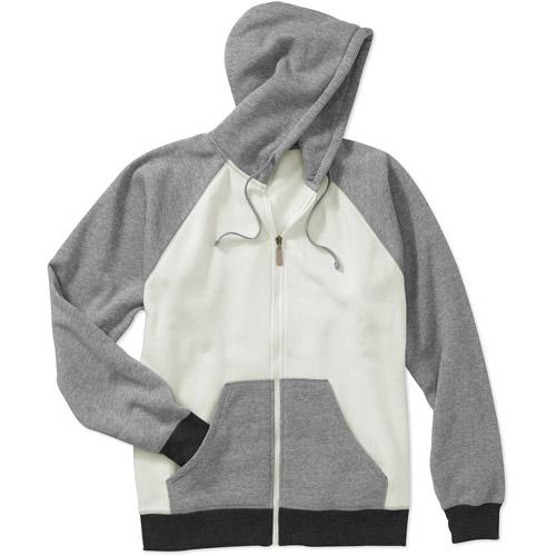 Men's Long Sleeve Raglan Zip Up Fleece H