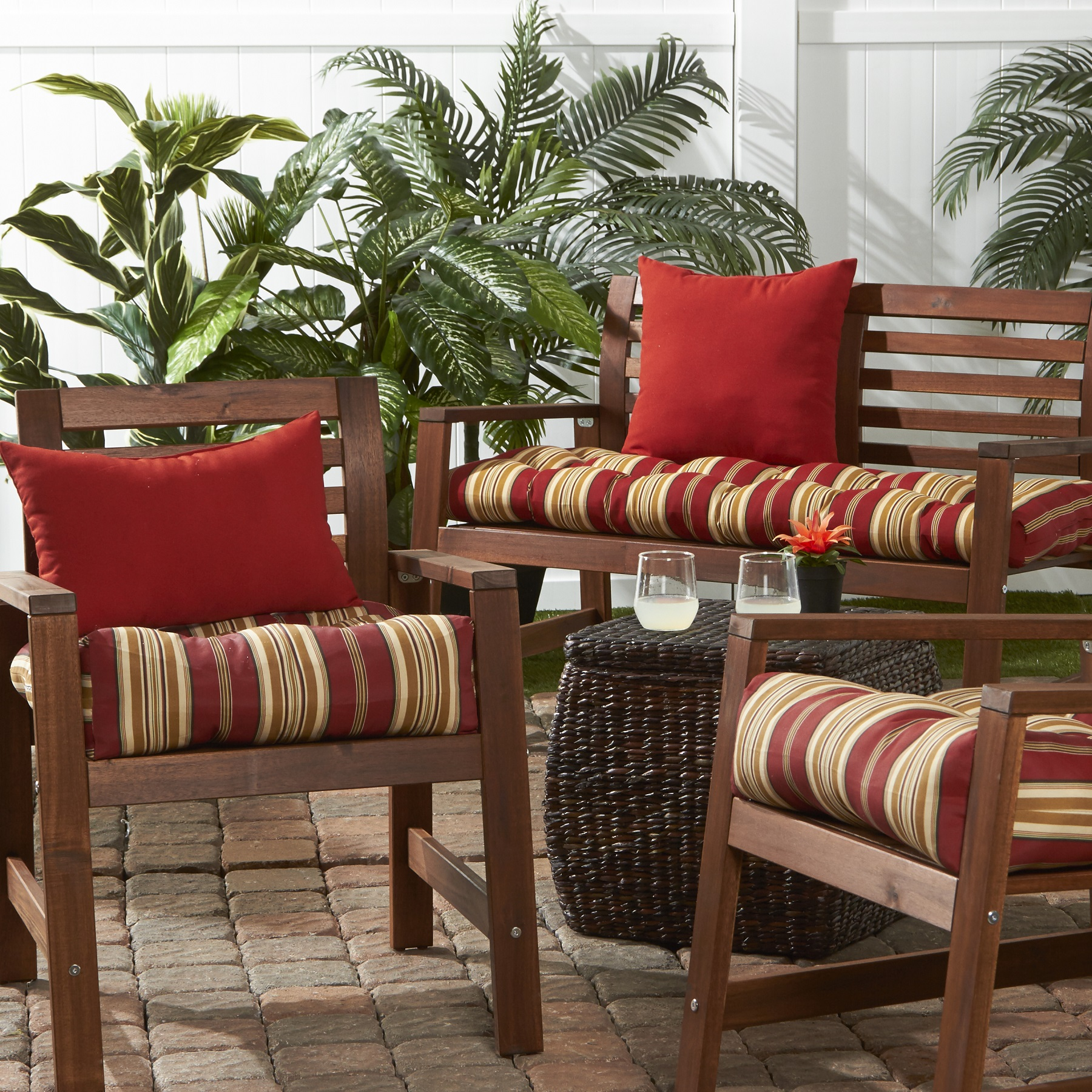 Greendale Home Fashions Roma Stripe Outdoor Cushion Collection