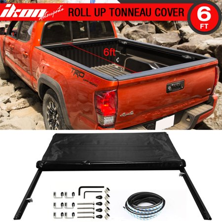 - Fits 16-17 Toyota Tacoma 6ft / 72in Bed Lock Soft Roll Up Tonneau Cover