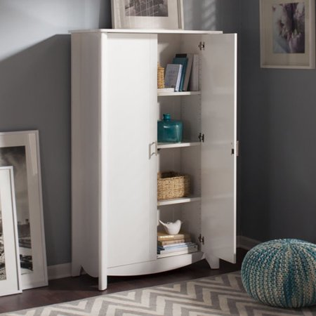 Bush Furniture Aero 2 Door Tall Storage Cabinet