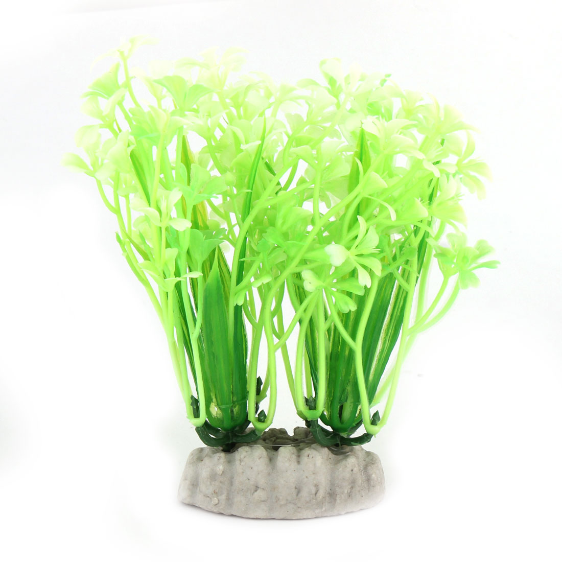 Aquarium Fish Bowl Plastic Underwater Plant Grass Landscaping Light Green 2 PCS