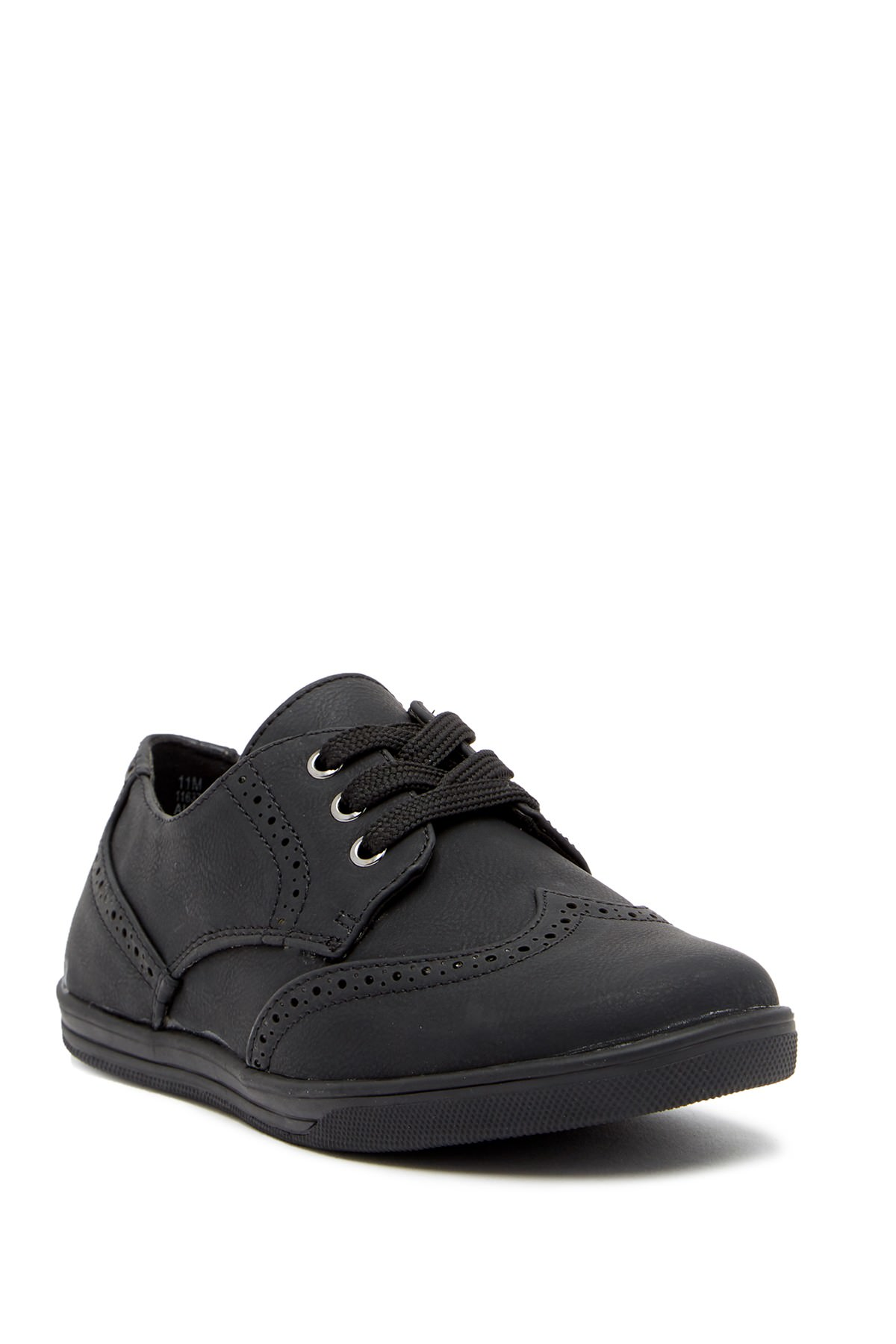 Scott David Chandler Toddler Youth Boys Black Wingtip Sneaker Shoes