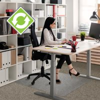 "Ecotex Enhanced Polymer Rectangular Chair Mat for Carpets up to 3/8"" - 48"" x 79"""