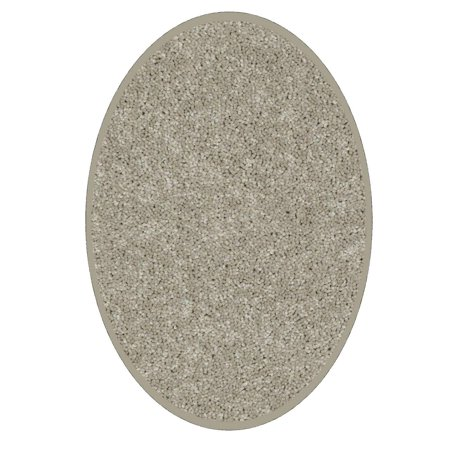 Color World Collection Way Pet Friendly Area Rugs Beige - 6'x8' Oval
