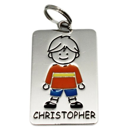 Metal Plate Illustrated Name Tag Christopher - By Ganz