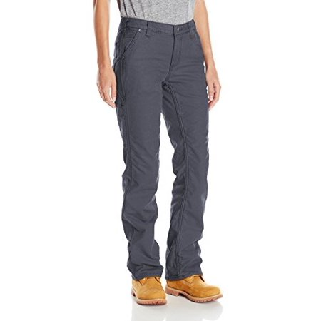 Carhartt Women's Original Fit Fleece Lined Crawford Pant, Coal, 12 Short