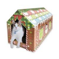 ACC Gingerbread Cat House Scratcher w/ Catnip Included