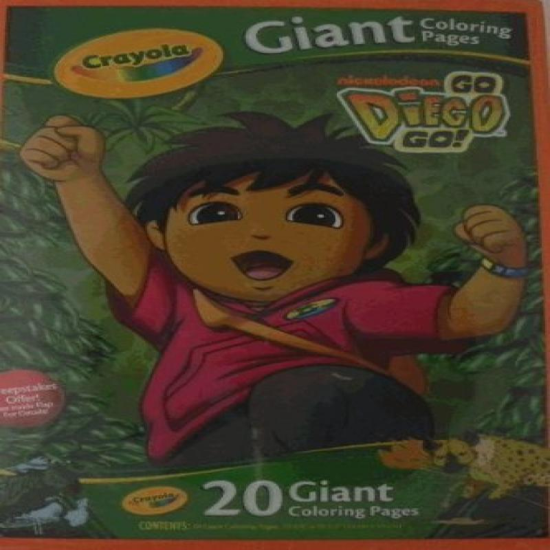 Giant Coloring Pages - Go Diego Go!
