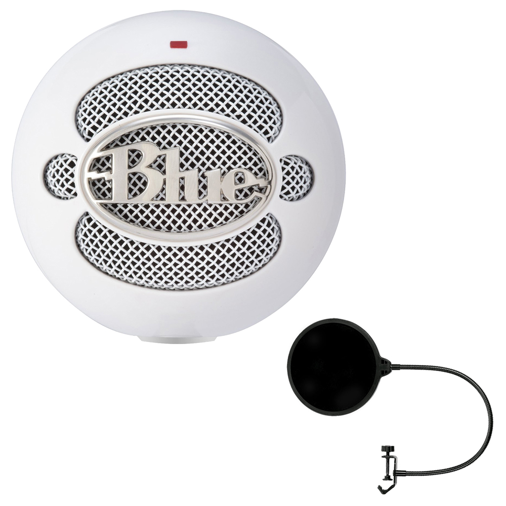 Blue Microphones Snowball iCE Condenser Microphone, Cardioid (SNOWBALL ICE) with Pop... by Blue Microphones