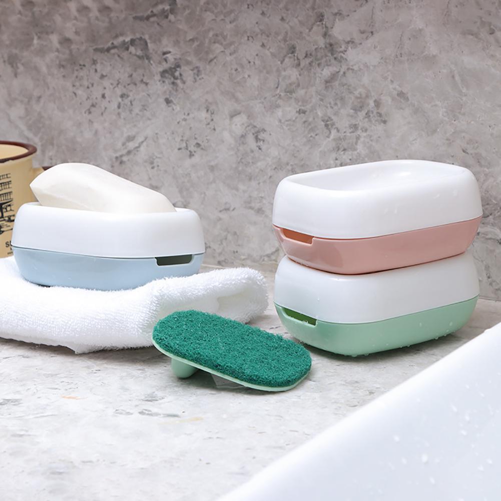 Moderna Dual Layer Soap Sponge Drain Dish Holder Tray Rack Bathroom Kitchen Organizer
