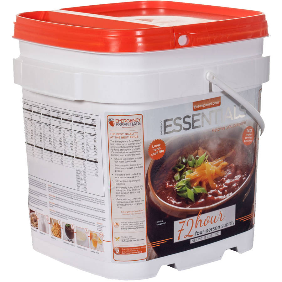 Emergency Essentials Food Premier 72-Hour 4-Person Food Supply Kit, 140 count
