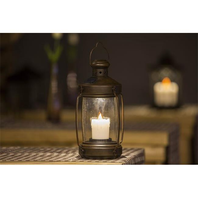 Winsome House WXE0104 Hurricane Lantern with Candle Solar Light