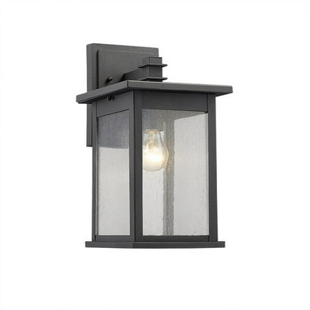 CHLOE Lighting TRISTAN Transitional 1 Light Black Outdoor Wall Sconce 14
