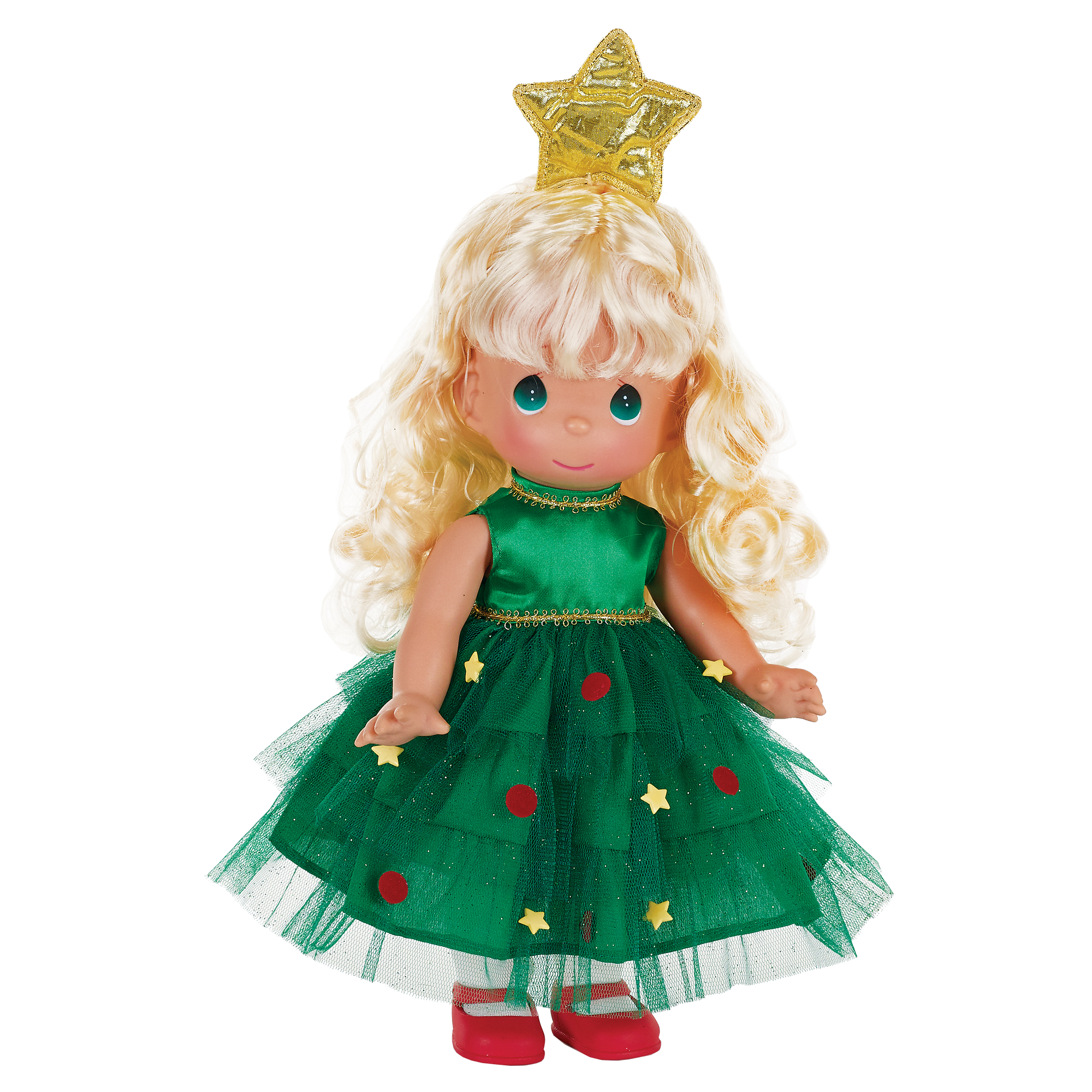 Precious Moments Dolls by The Doll Maker, Linda Rick, Tree-Mendously Precious, Blonde, Christmas, 12 inch doll