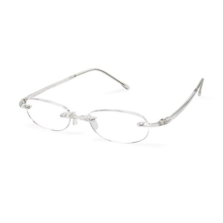 Gels The Original Reading Glasses - Crystal (+2.50 Magnification Power), Luxury reading eyewear By Scojo New (Original Eyewear)