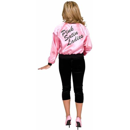 Pink Dolls Satin Jacket Plus Size Women's Adult Halloween Costume (Halloween Costume Ideas Trench Coat)