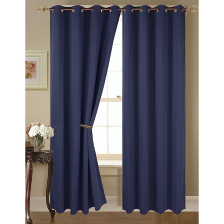 Empire Amber Solid Thermal Blackout Grommet Window Curtain Panel 84