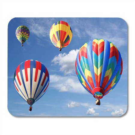 Air Ride Show Pad (LADDKE Ascend Ride Colorful Hot Air Balloons Looking Up Aircraft Fiesta Mousepad Mouse Pad Mouse Mat 9x10 inch )