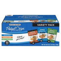 Snack Factory Pretzel Crisps Variety Pack, Original, Buffalo Wing, Garlic Parmesan, 1.5 Oz, 24 Ct