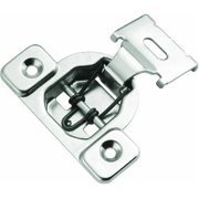 Hickory Hardware P5125-14 Bright Nickel Concealed Face Frame with 0.5 In. Overlay