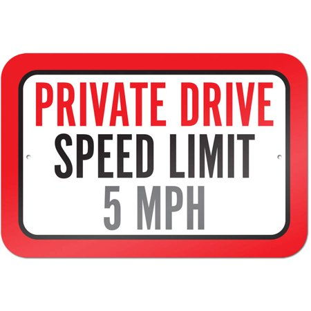 Private Drive Speed Limit 5 mph Sign Private Drive Lawn Plaque