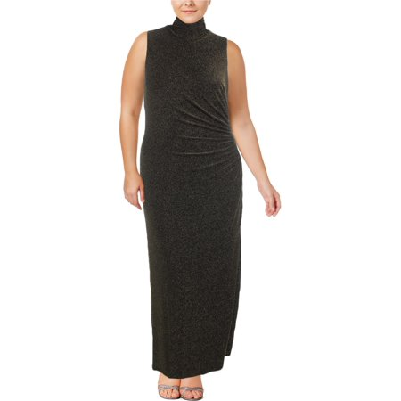1c1b67260d Lauren Ralph Lauren - Lauren Ralph Lauren Womens Esbenia Metallic Gathered Evening  Dress - Walmart.com