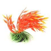 Fish Tank Aquarium Ceramic Base Plastic Vividly Float Plants Decor Ornament