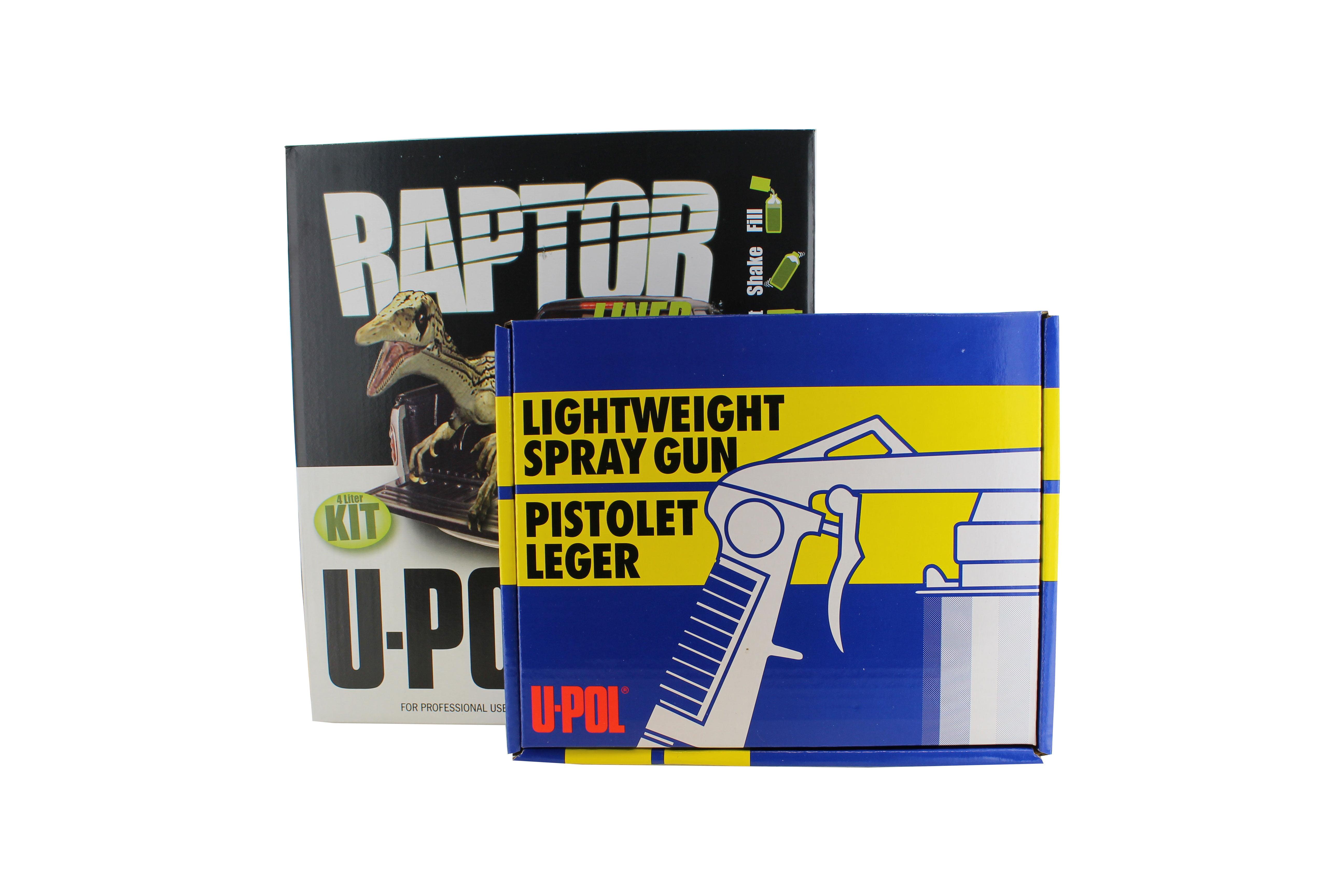 U Pol Upol 820v Raptor Black Urethane Spray On Truck Bed Liner Kit