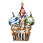 "Little Circus Moscow Cling Stamp 5.5""X3.75"" Package-Moscow Cathedral"
