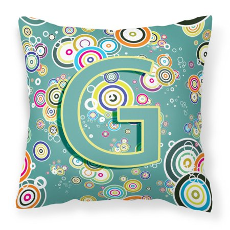 Carolines Treasures Circle Circle Monogram Decorative Outdoor Pillow](Cheap Monogram Stuff)