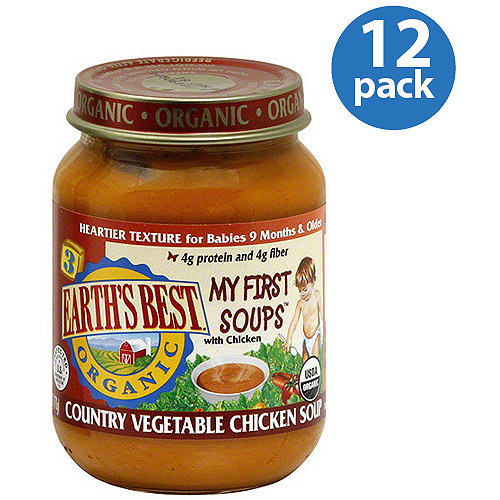 Earth's Best Organic Country Vegetable Chicken Soup, 6 oz (Pack of 12)