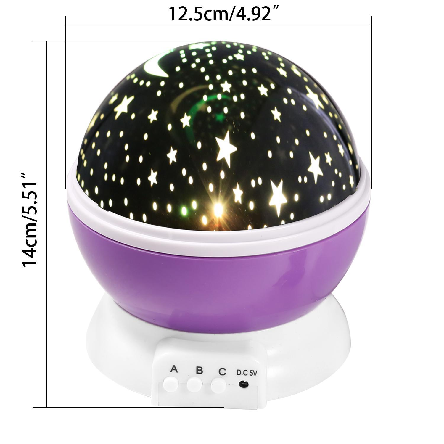 LED Star Projector Night Light Amazing Lamp Master for Kids Bedroom Home Decoration(with USB Cable), Purple KMIMT