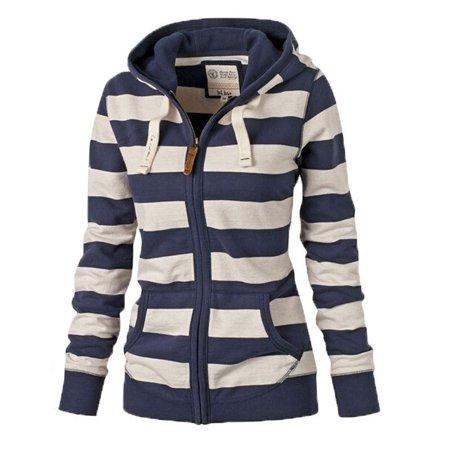 New Fashion Women Plain Zipper Warm Hoodie Sweatshirt Jumper Sweater Top Hooded Jacket Coat Plus Size