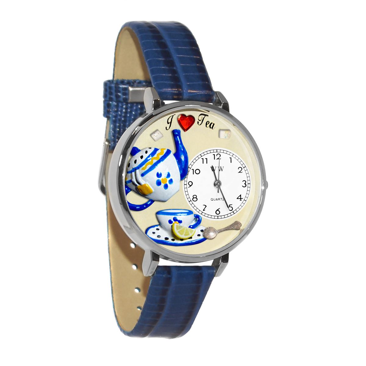 Tea Lover Watch in Silver (Large)