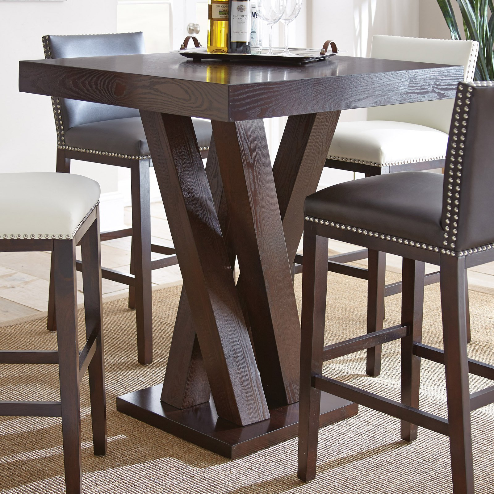 Steve Silver Tiffany Square Bar Height Table Walmart Com