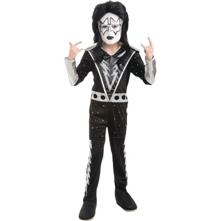 Boys Kiss Spaceman Ace Frehley Rock Star Costume - Ace Of Clubs Costume