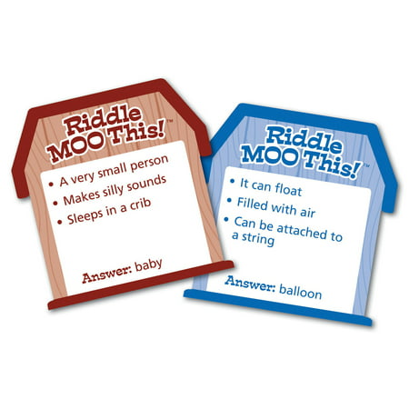Learning Resources, LRNLER3772, Riddle Moo This Silly Word Game, 1 Each, Multi
