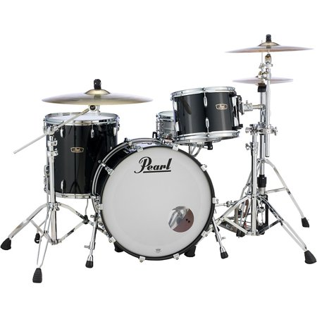 Pearl Vintage Hybrid Wood Fiberglass Series 3-Piece Shell Pack with 24 in. Bass Drum Piano Black