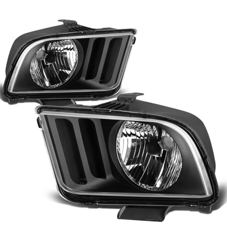 For 2005 to 2009 Ford Mustang OE Style Headlight Black Housing Headlamp - Pony 5th Gen 06 07 08 Left+Right