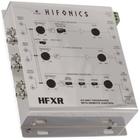 2 Way Active Electronic Crossover (Hifonics HFXR 2/4 Ch 2/3 Way Active Crossover w/Bass Remote 8.5 Volt Line)
