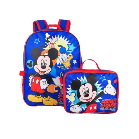 Disney Mickey Mouse Backpack with Insulated Lunchbox - Star Wars Backpack And Lunchbox