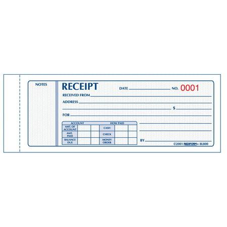 rediform monthly carbonless receipt manifold book. Black Bedroom Furniture Sets. Home Design Ideas