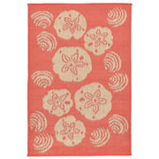 Liora Manne Terrace 1790/27 Shell Toss Coral Area Rug 23 Inches X 7 Feet 6 Inches