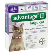 Advantage II Flea & Tick Treatment for Large Cats, 4 Doses