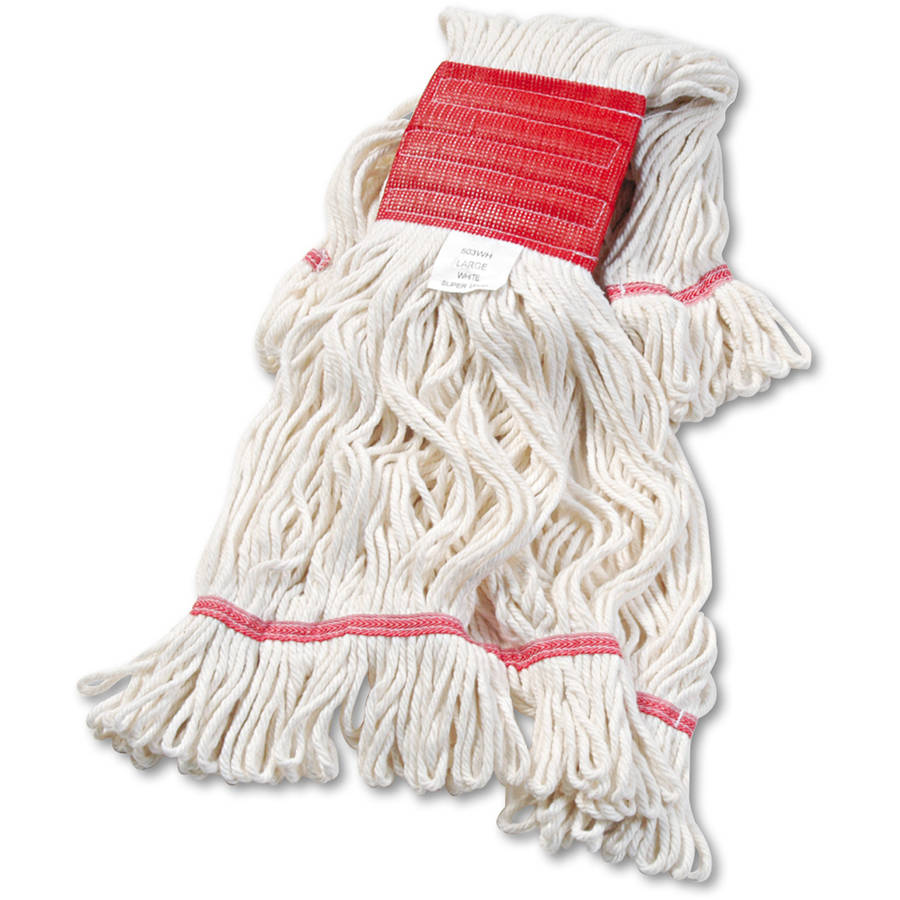 Boardwalk Large White Cotton Synthetic Super Loop Wet Mop Head, 12 count by UNISAN